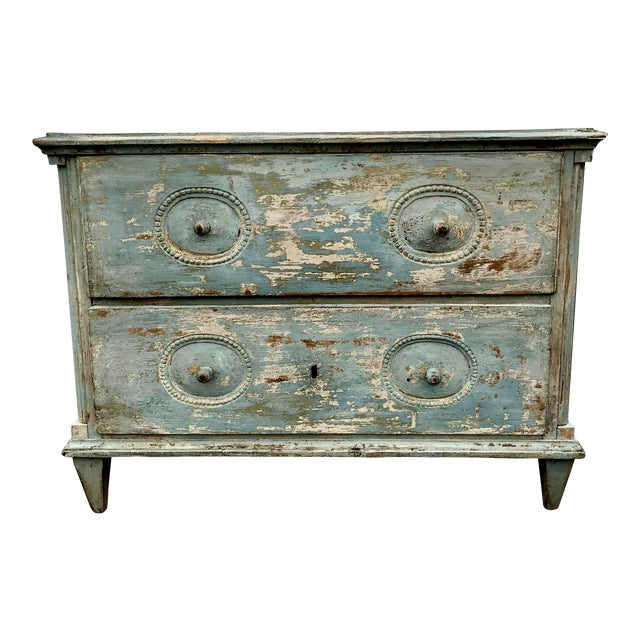 19th C. Swedish Painted Chest of Drawers For Sale