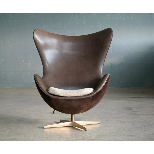A rare very special edition of the famous Egg chair designed by Arne Jacobsen in 1958. This particular chair was number...