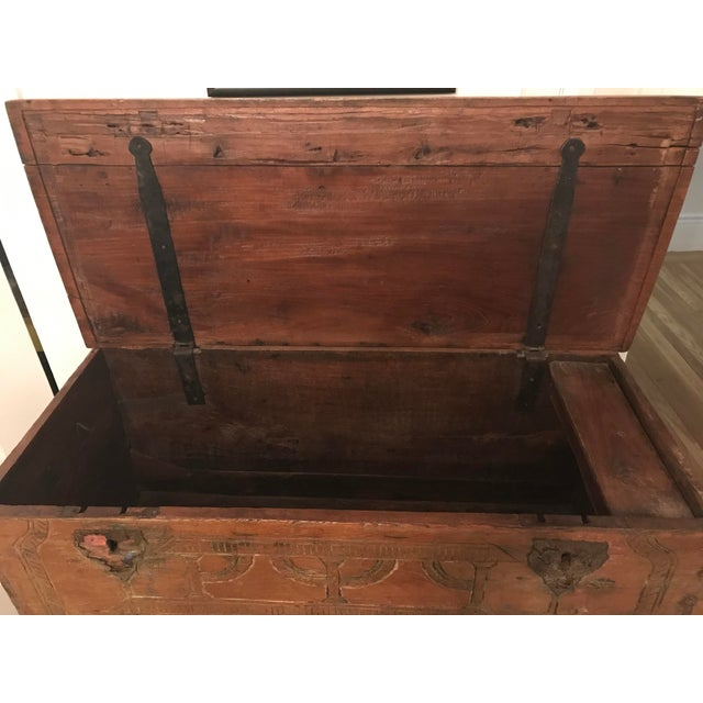 Wood Antique Indonesian Gerobok Chest For Sale - Image 7 of 11