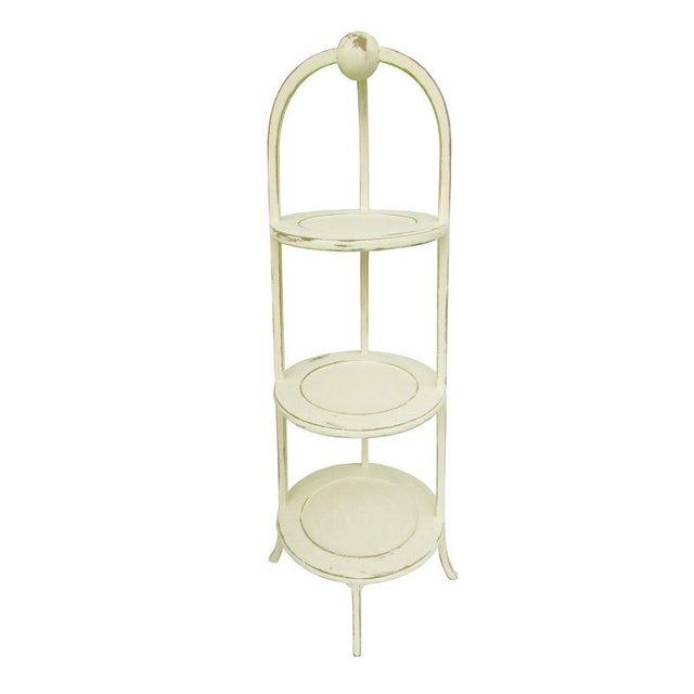 Vintage 3-Tier English Side Table For Sale