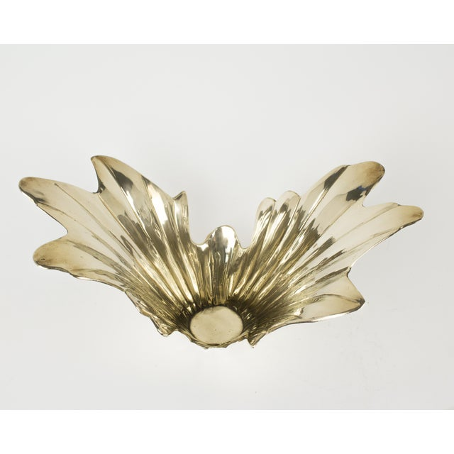 Vintage 1950s Art Deco Style Brass Vase For Sale In New York - Image 6 of 7