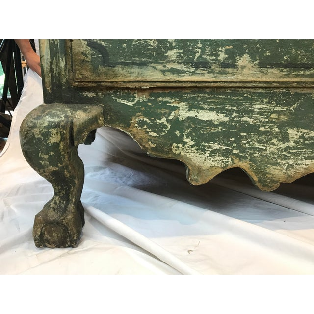 Green French 18th-c. Commode w/ Original Paint For Sale - Image 8 of 10