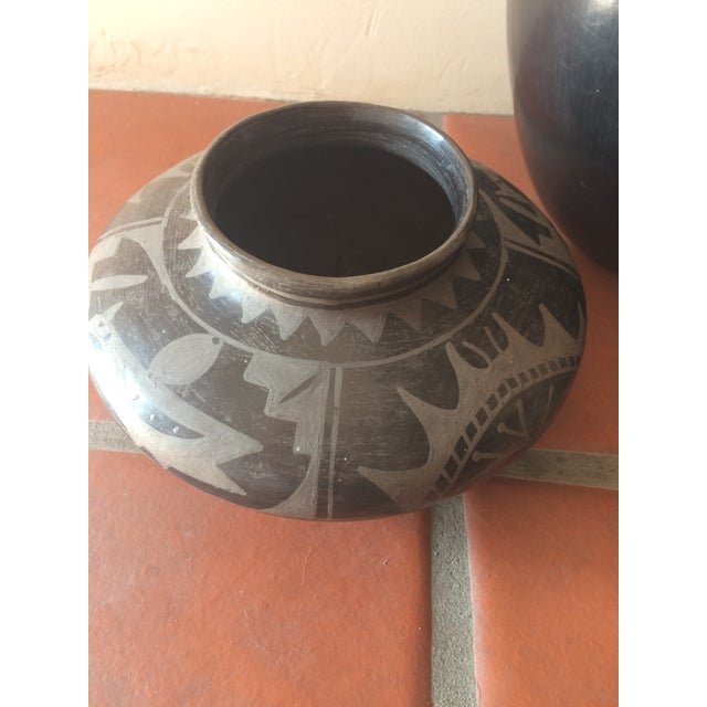 Black Indian Pottery - Set of 3 - Image 9 of 11