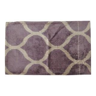Purple Honeycomb Pattern Silk Velvet Pillow For Sale