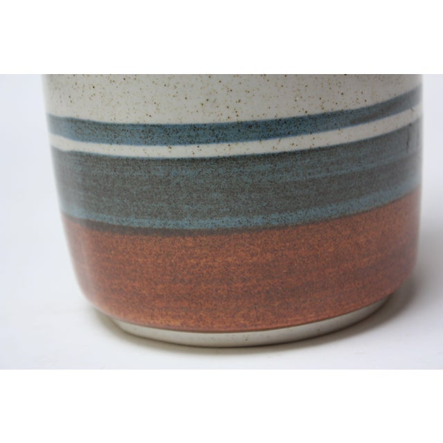 Mid Century Israeli Modern Large Stoneware Vase by Esther for Lapid For Sale - Image 10 of 11