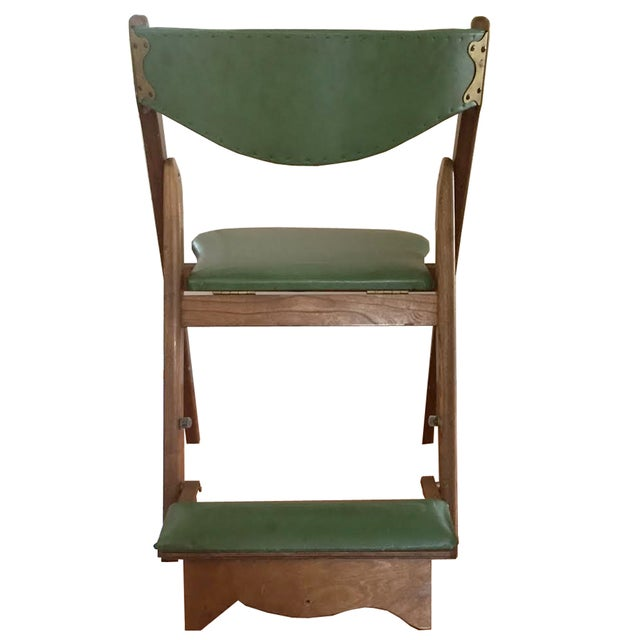 This set of 4 vintage mid-century Norquist Coronet folding chairs (Style No. 220). These were made in Jamestown, New York...