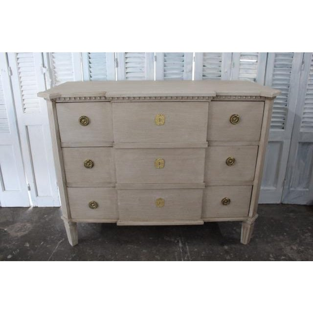 White 20th Century Swedish Gray Commode For Sale - Image 8 of 8