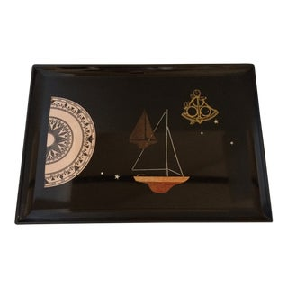 Couroc of Monterey Nautical Serving Tray For Sale