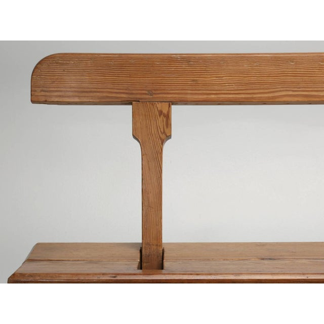 Pine Antique Country Pine Bench With Adjustable Back For Sale - Image 7 of 13