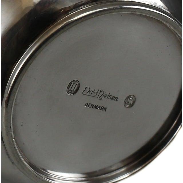 Metal Circa 1940 Evald Nielsen Silver Modernist Coffee Service Set - Set of 3 For Sale - Image 7 of 8