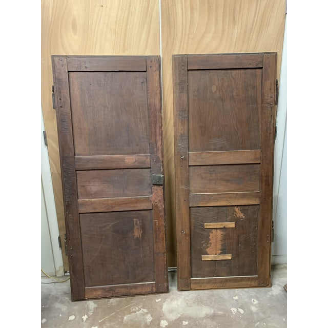 Late 18th C Antique French Oak Armoire Doors, a Pair For Sale In Denver - Image 6 of 13