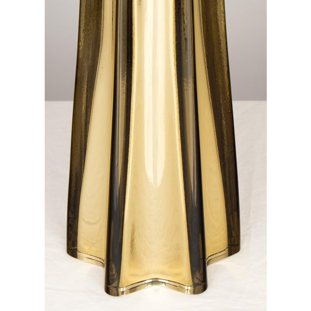 Gold Star-Shaped Customizable Murano Glass Lamps For Sale - Image 8 of 10