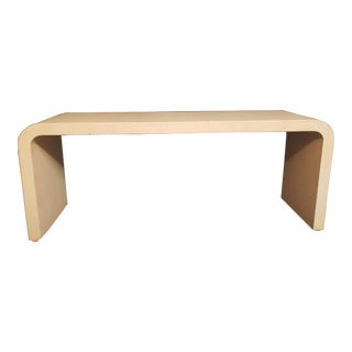 1990s Mid-Century Modern Inspired Arched Waterfall Console Table For Sale