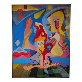 Original James Mafko 1976 Surrealist Painting For Sale