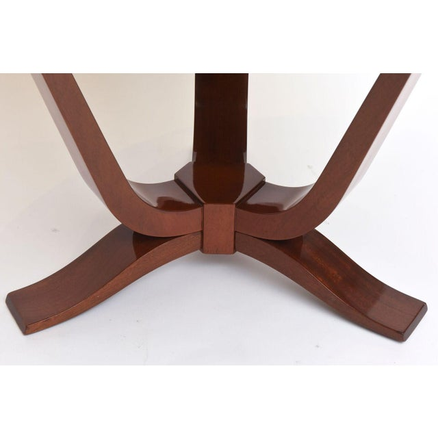 1940s Late Art Deco Mahogany Occasional Table For Sale - Image 5 of 9
