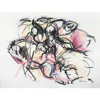 Polo Player #3 Abstract Drawing For Sale
