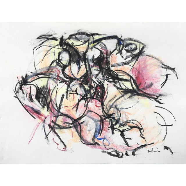 Polo Player #3 Abstract Drawing - Image 1 of 3