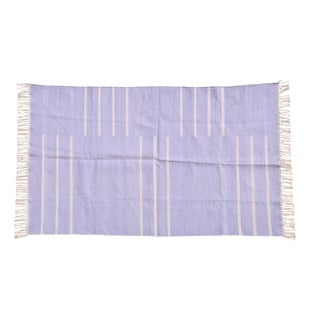 Lavendar Rug, 10x14, Violet & White For Sale
