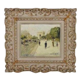 1930s Vintage Gabriel Spat Impressionist Paris Scene Painting For Sale