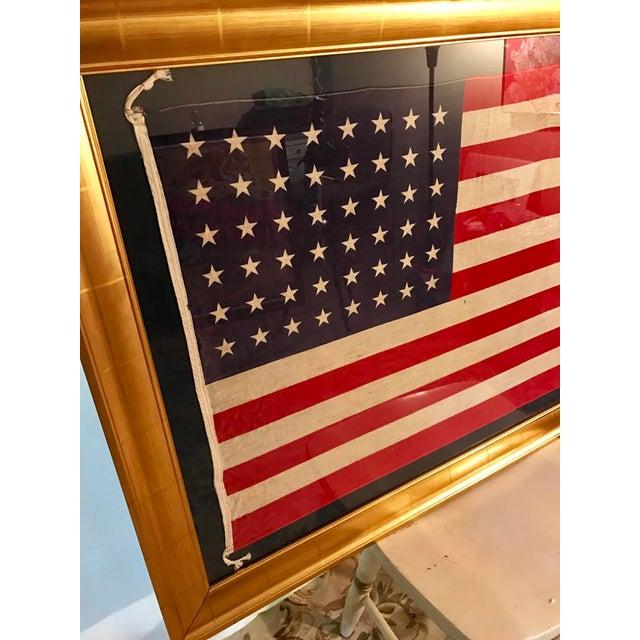 Rare Original 48 Star Newly Framed American Flag - Image 4 of 6