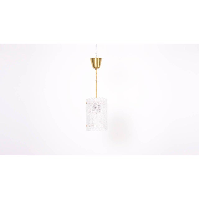 Mid-Century Modern Glass Pendant Light by Carl Fagerlund for Orrefors For Sale - Image 3 of 9