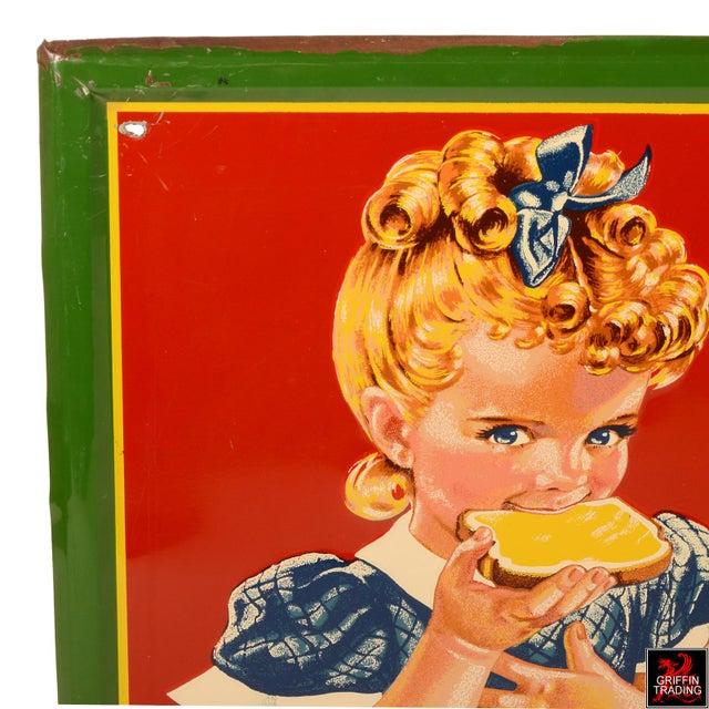 1950s Vintage Sunbeam Bread Sign For Sale - Image 5 of 10
