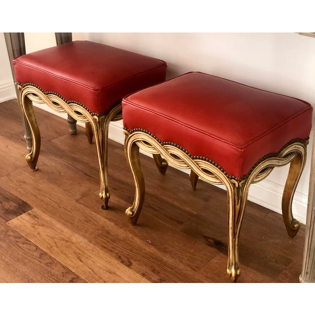 Traditional Regency Style Ribbon Taboret Bench by Randy Esada Designs for Prospr - a Pair For Sale - Image 3 of 8