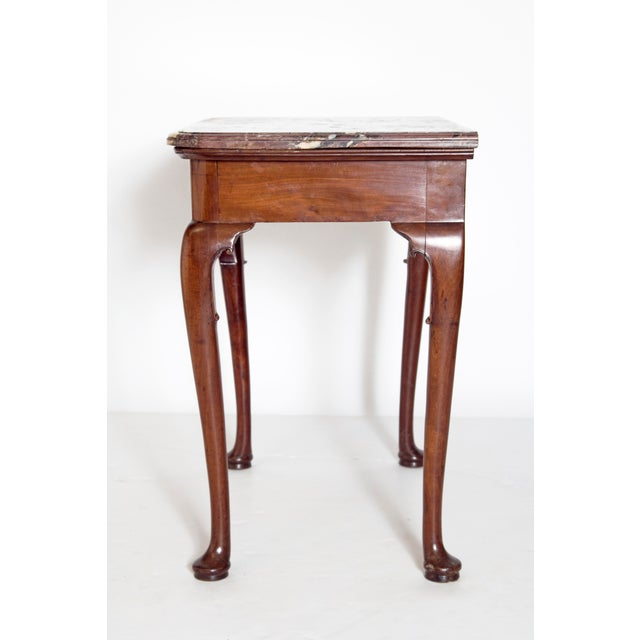 Early 18th Century Queen Anne Mahogany Side Table For Sale In Dallas - Image 6 of 13