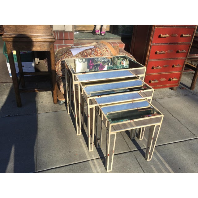 Mirrored Nesting Tables - Set of 3 - Image 2 of 7
