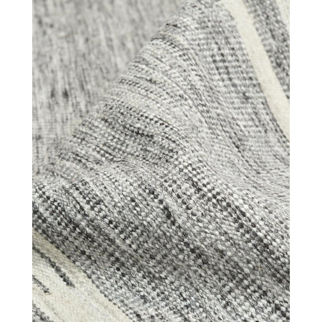 Lorrena, Contemporary Flatweave Hand Woven Area Rug, Gray, 9 X 12 For Sale In New York - Image 6 of 9