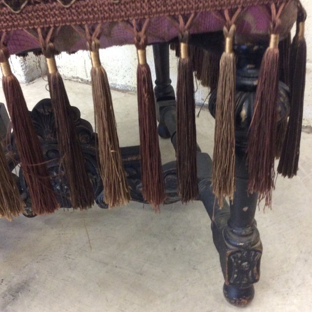 Carved Mahogany Jacobean Style High Back Chairs-A Pair For Sale - Image 9 of 13
