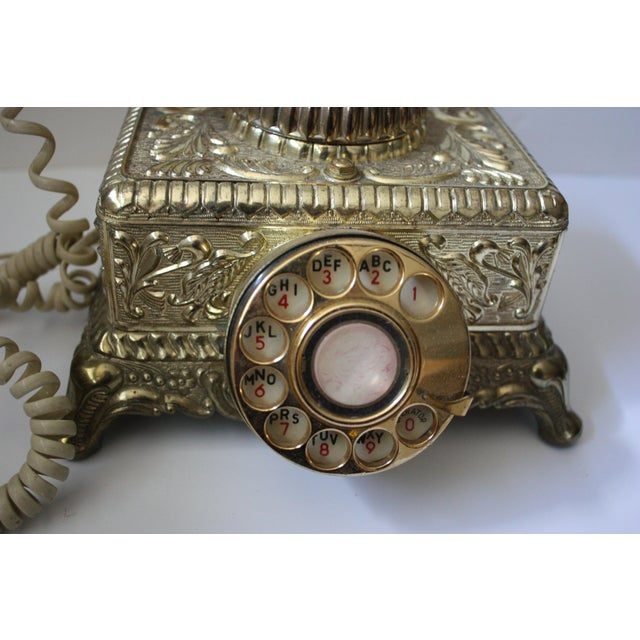 Hollywood Regency Brass Phone - Image 3 of 5