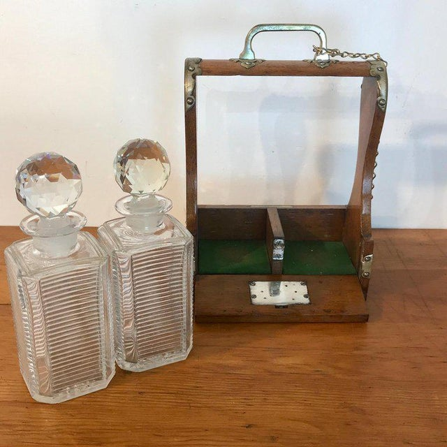 Mappin Bros. Diminutive Tauntless With Cut Glass Decanters For Sale - Image 9 of 13