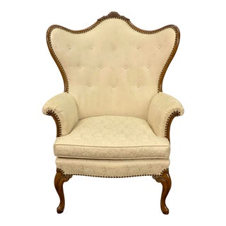 Vintage Globe Furniture French Provincial Wingback Chair For Sale