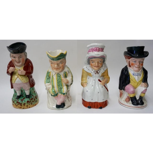 Punch and Judy Staffordshire Toby Jugs - Set of 4 For Sale - Image 11 of 11