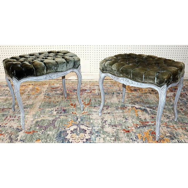 Vintage Louis XV Style Stools - a Pair For Sale - Image 11 of 11