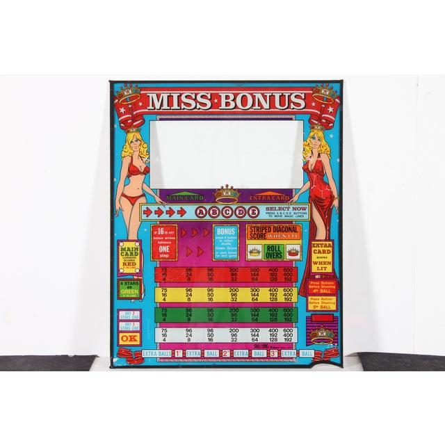 Miss Bonus Original Pinball Backglass - Image 2 of 3