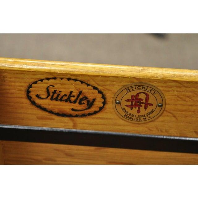 L&j G Stickley Arts & Crafts Mission Oak Wood Two Drawer Office File Cabinet For Sale - Image 10 of 13