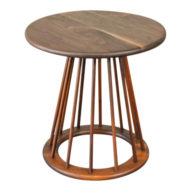 Walnut Spindle Table by Arthur Umanoff For Sale