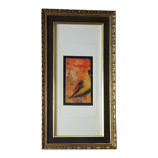 Vintage Framed Freid Abstract Pastel Drawing - Image 1 of 3