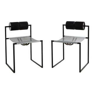 Pair of Post Modern Seconda Chairs by Mario Botta For Sale