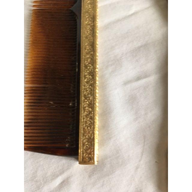 Hollywood Regency Gold Vanity Set For Sale In Chicago - Image 6 of 6