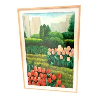 """Central Park Tulips Ii"" by Ellen W. Sinel For Sale"