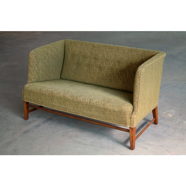 1930s 1930s Kaare Klint Style Danish Settee in Mahogany Attributed to Georg Kofoed For Sale - Image 5 of 12
