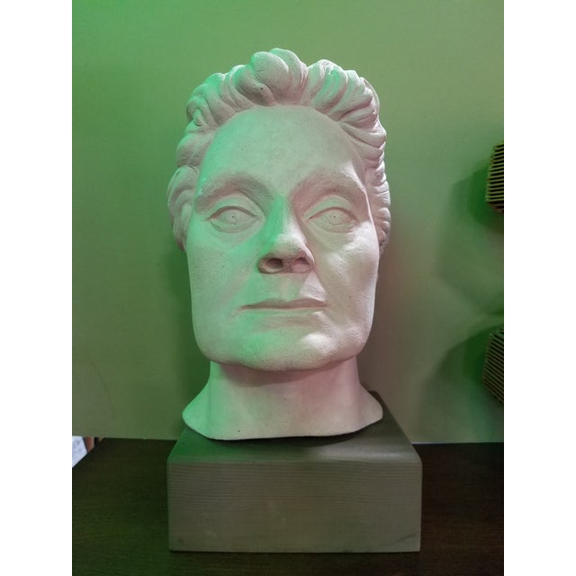 Life-Size Terracotta Bust by Herman Roderick Volz For Sale - Image 11 of 11