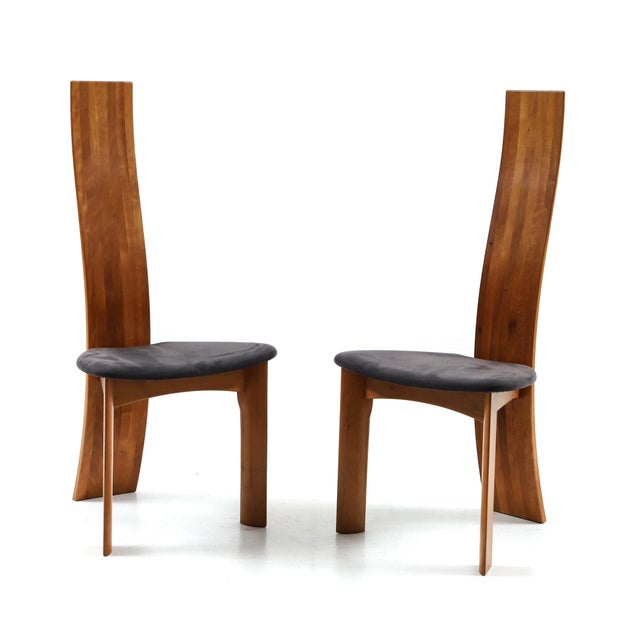 Set of Eight Danish Cherry-Wood Dining Chairs by Bob Og Dries Van Den Bergh For Sale - Image 6 of 6