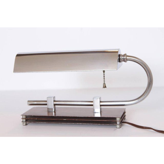 Machine Age Art Deco Adjustable Desk Lamp in Manner of Gilbert Rohde For Sale In Dallas - Image 6 of 11