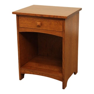 Stickley Mission Collection Oak One Drawer Nightstand For Sale