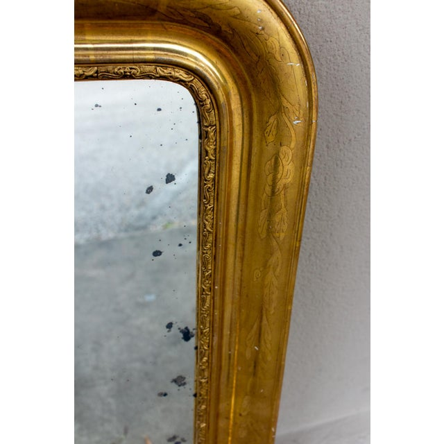 Late 19th Century Antique French Gilt Louis Philippe Mirror, Late 19th Century For Sale - Image 5 of 13