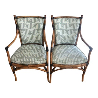 Bamboo Arm Chairs - A Pair For Sale